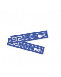 fifteen52 Holeshot RSR Wheel Lip Decal Set of Four - Blue