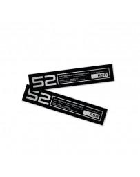 fifteen52 Holeshot RSR Wheel Lip Decal Set of Four - Black
