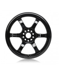 Gram Lights 57CR 18x9.5 +12 5x114.3 Gloss Black Wheel