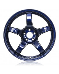 Gram Lights 57CR 18x9.5 +12 5x114.3 Eternal Blue Wheel