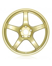 Gram Lights 57CR 18x8.5 +37 5-108 E8 Gold Wheel