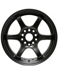 Gram Lights 57DR 15x8.0 +28 4-100 Semi Gloss Black Wheel