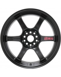 Gram Lights 57DR 17x9.0 +38 5-114.3 Semi Gloss Black Wheel