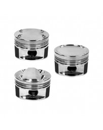 350z DE Manley 81.4mm Stroker 95.5mm Std Bore 11.0:1 Dome Piston Set with Rings