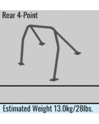 Toyota Yaris GR 20+ MK2 Cusco SAFETY 21 Roll cage 4-Point, Rear, 2 Passenger