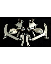FDF RaceShop FORD MUSTANG S197 MANTIS ANGLE KIT With Caster Plates With On Car Adjustment FDF Silver