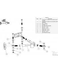 FDF RaceShop CORVETTE C5/C6 UPPER CONTROL ARM ASSEMBLY 3/4 - M14 Spacers x1set