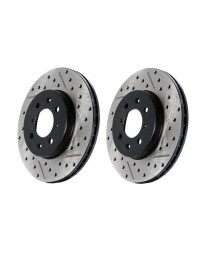 300zx Z32 Stoptech Direct Replacement Rotors, Front Pair Drilled/Slotted, 30mm Calipers