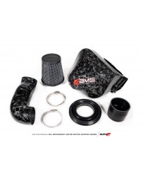 Toyota Supra GR A90 MK5 AMS Performance Chopped CF Cold Air Intake System (Does Not Fit w/ Strut Bar)