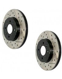 Brake Rotor Sport Drilled Slotted Front Rear 280ZX 79-83 Front Pair