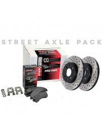 EVO 8 & 9 StopTech Slotted & Drilled Rear Sport Brake Rotor and Rear Semi-Metallic Brake Pads