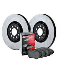 EVO 8 & 9 StopTech Premium High Carbon Brake Rotor and Front Brake Pads