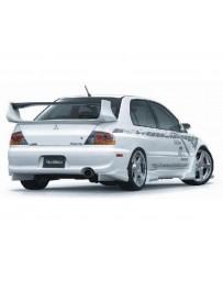 VeilSide 2003-2007 Mitsubishi Lancer EVO VIII & IX CT9A Ver. I Model USDM Spec Rear Under Caps (FRP)