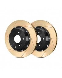 R35 StopTech AeroRotor Slotted 2-Piece Front Driver Side Brake Rotors