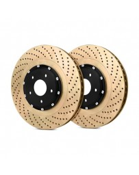 R35 StopTech AeroRotor Drilled 2-Piece Rear Passenger Side Brake Rotors
