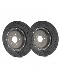 R35 Brembo GT Series Cross Drilled CCM-R Vented 2-Piece Rear Brake Rotors