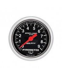 R33 AutoMeter Sport-Comp Electronic Pyrometer Gauge 0-900 Deg C - 52mm