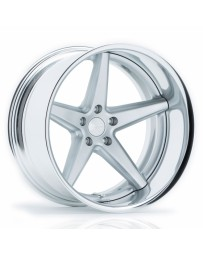 VOSSEN x Work VWS-3 - Matte Silver Center / Polished Lip