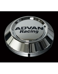 370z Advan Racing High Center Cap, Bright Chrome - 73mm