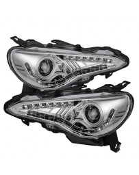 Toyota GT86 Spyder Projector Headlights DRL LED Chrome