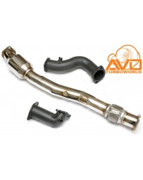 "Toyota GT86 AVO Turboworld 3"" Front Pipe Assembly with Metal Cat"