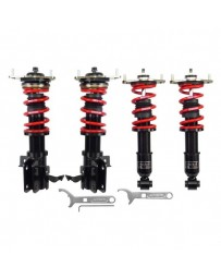 "Toyota GT86 RS-R 0.6""-2.4"" x 1.0""-2.6"" Black Front and Rear Lowering Coilover Kit"
