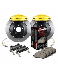 370z StopTech Rear BBK with Yellow ST-41 Calipers 355x32 Slotted Rotor
