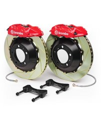 "370z Brembo Rear Monotblock 345x32mm 14"" 4-Piston Big Brake Kit - Slotted"