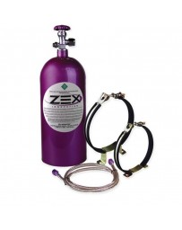 350z ZEX Nitrous Bottle Kit Maximizer - Purple, Bottle Brackets, Fittings, Braided Stainless Steel Lines