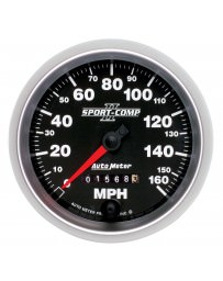 370z AutoMeter Sport-Comp II Mechanical Speedometer 160 MPH - 3 - 3/8""