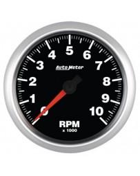 370z AutoMeter ES Street Progressive Tachometer Shift Light - 10,000 RPM 85.7mm