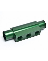 "370z Radium Engineering 3-Port Hose Adapter For 3/4"" ID Hose, Green"