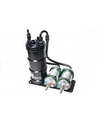 370z Radium Engineering Dual External Bosch 044 Horizontal Fuel Surge Tank (Pumps Not Incl)