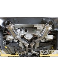 """350z AAM Competition 3"""" MaxFlow True Dual Exhaust with Titanium tips"""