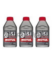 350z Motul Dot 5.1 Synthetic Racing Brake / Clutch Fluid, 3-Pack