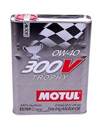 370z Motul 300V TROPHY 0W40 Synthetic Ester Racing Oil - 2 Liters