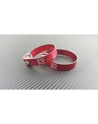 "370z P2M Aluminum 2.5"" Hose Clamp, Red"