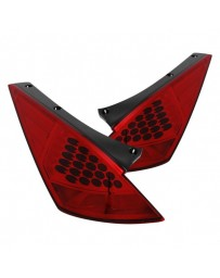 350z DE Anzo Chrome/Red LED Tail Lights 2003-2005