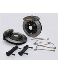 350Z AP Racing 6-Piston Front Slotted RT Big Brake Kit - Competition Gray Calipers