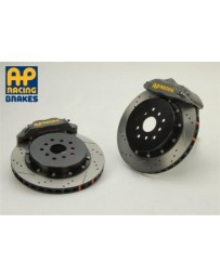 350z AP Racing 4-Piston Rear Alum Hat Drilled/Slotted RT Big Brake Kit- Competition Gray Calipers