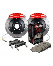 350z StopTech 4Pot Rear Big Brake Kit - Red/Drilled