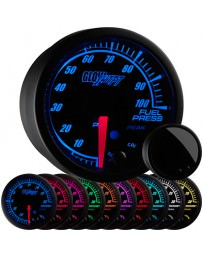 350z GlowShift Elite 10 Color 100 PSI Fuel Pressure Gauge