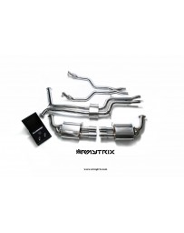 ARMYTRIX Stainless Steel Valvetronic Catback Exhaust System Quad Matte Coated Tips Audi A6 C7 3.0 TFSI V6 11-17