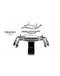 ARMYTRIX Stainless Steel Valvetronic Catback Exhaust System Quad Blue Coated Tips Audi TT MK2 8J 4WD 07-14