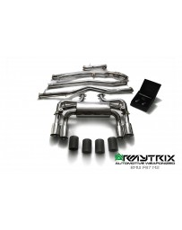 ARMYTRIX Stainless Steel Valvetronic Catback Exhaust System Quad Matte Black Tips BMW M2 F87 16-18