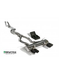 ARMYTRIX Stainless Steel Valvetronic Catback Exhaust System Quad Matte Black Tips BMW M3 M4 F8x 15-17