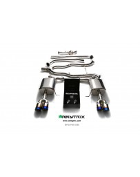 ARMYTRIX Stainless Steel Valvetronic Catback Exhaust System Dual Matte Black Tips BMW 5-Series F10 11-17