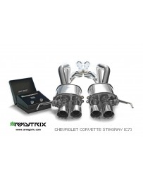 ARMYTRIX Stainless Steel Valvetronic Catback Exhaust System Chrome Silver Tips Chevrolet Corvette Z06 C7 LT4 6.2L Supercharged