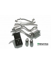 ARMYTRIX Stainless Steel Valvetronic Catback Exhaust System Dual Chrome Silver Tips Ford Mustang 2.3L EcoBoost 15-17