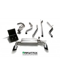 ARMYTRIX Stainless Steel Valvetronic Catback Exhaust System Dual Blue Coated Tips Mercedes Benz A-Class W176 2WD 13-15